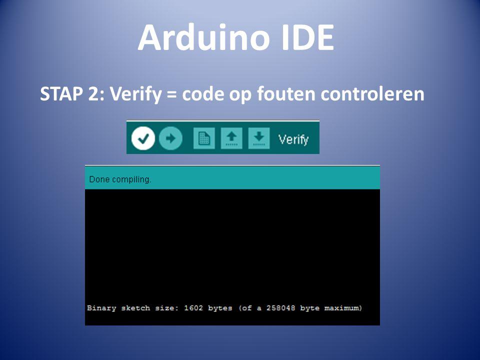 STAP 2: Verify = code op fouten controleren