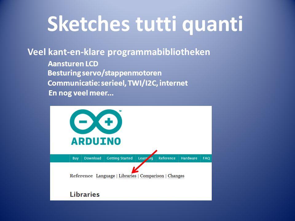 Sketches tutti quanti Veel kant-en-klare programmabibliotheken