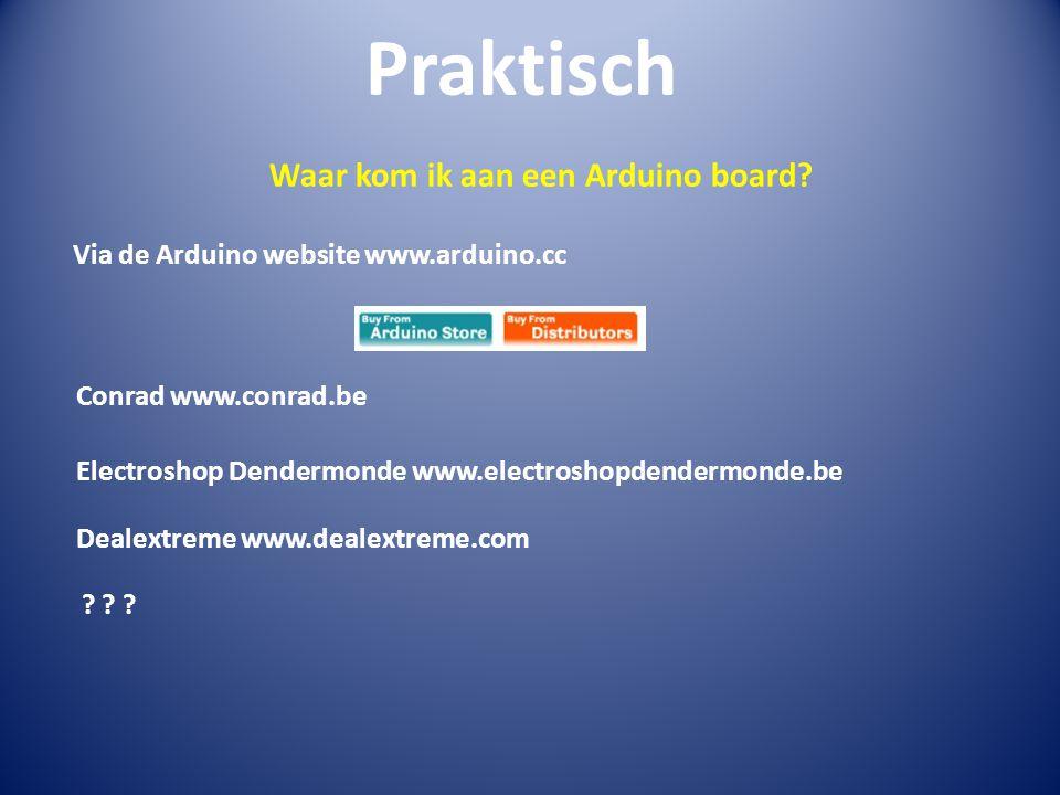 Waar kom ik aan een Arduino board