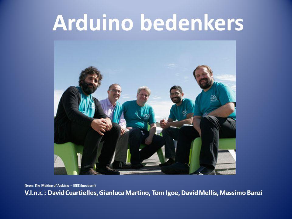 Arduino bedenkers David Cuartielles, Spanje: microchip ingenieur. Gianluca Martino,