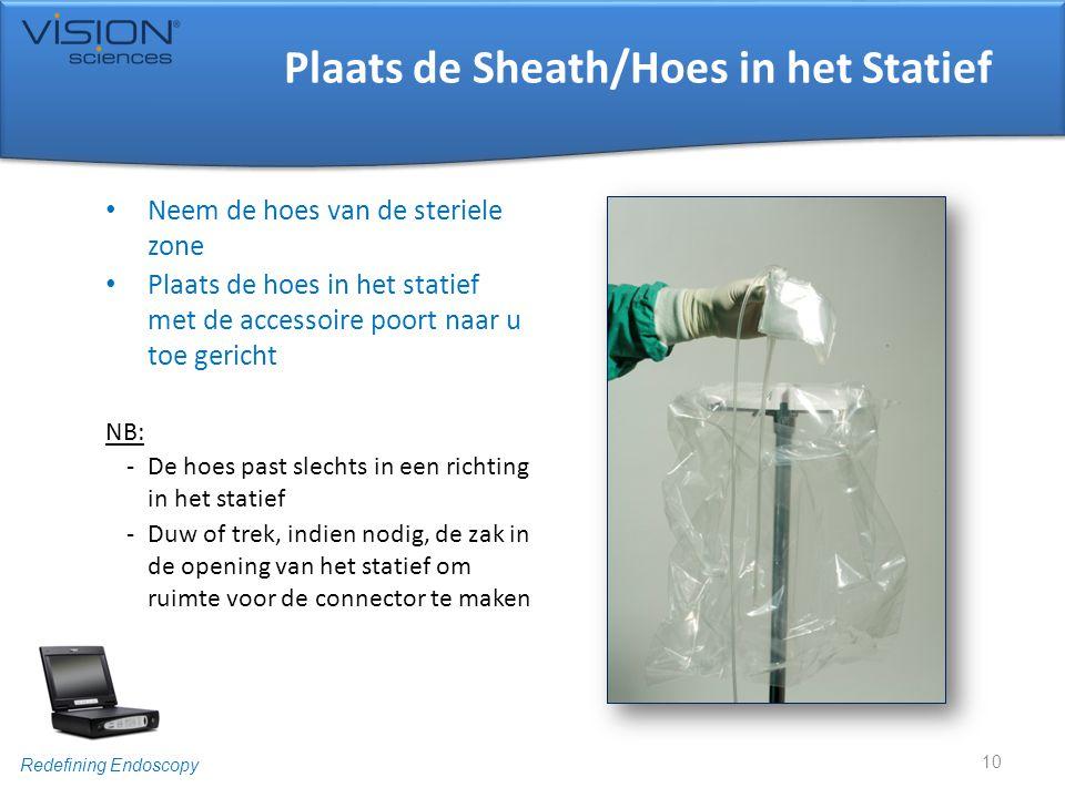Plaats de Sheath/Hoes in het Statief