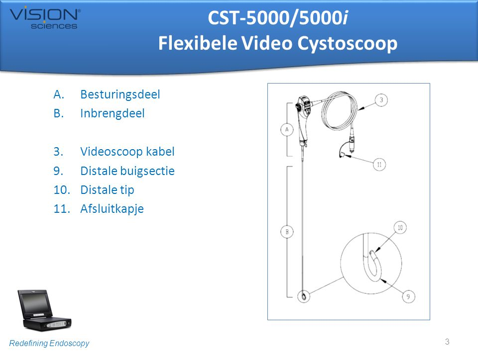 CST-5000/5000i Flexibele Video Cystoscoop