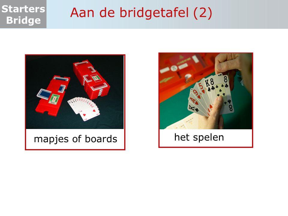 Aan de bridgetafel (2) mapjes of boards het spelen