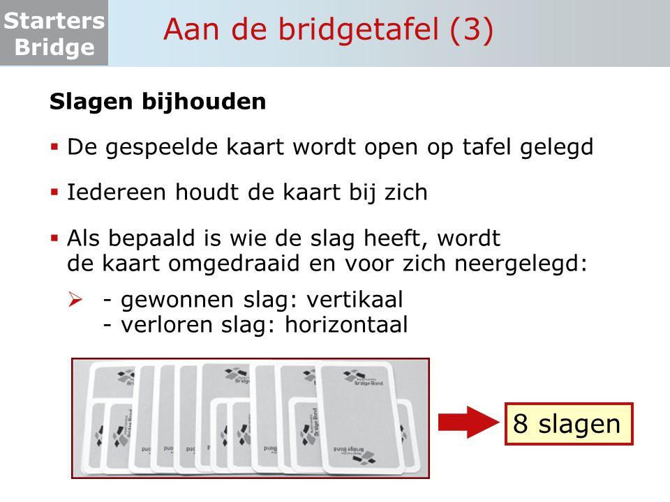 Aan de bridgetafel (3) 8 slagen Slagen bijhouden