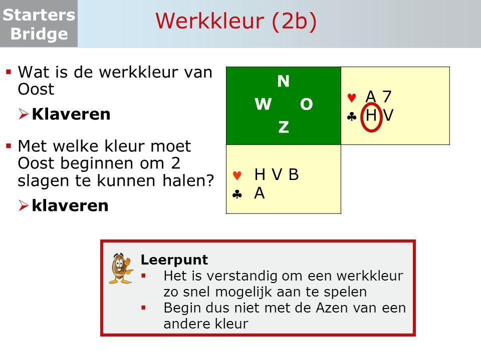 Werkkleur (2b) Wat is de werkkleur van Oost Klaveren