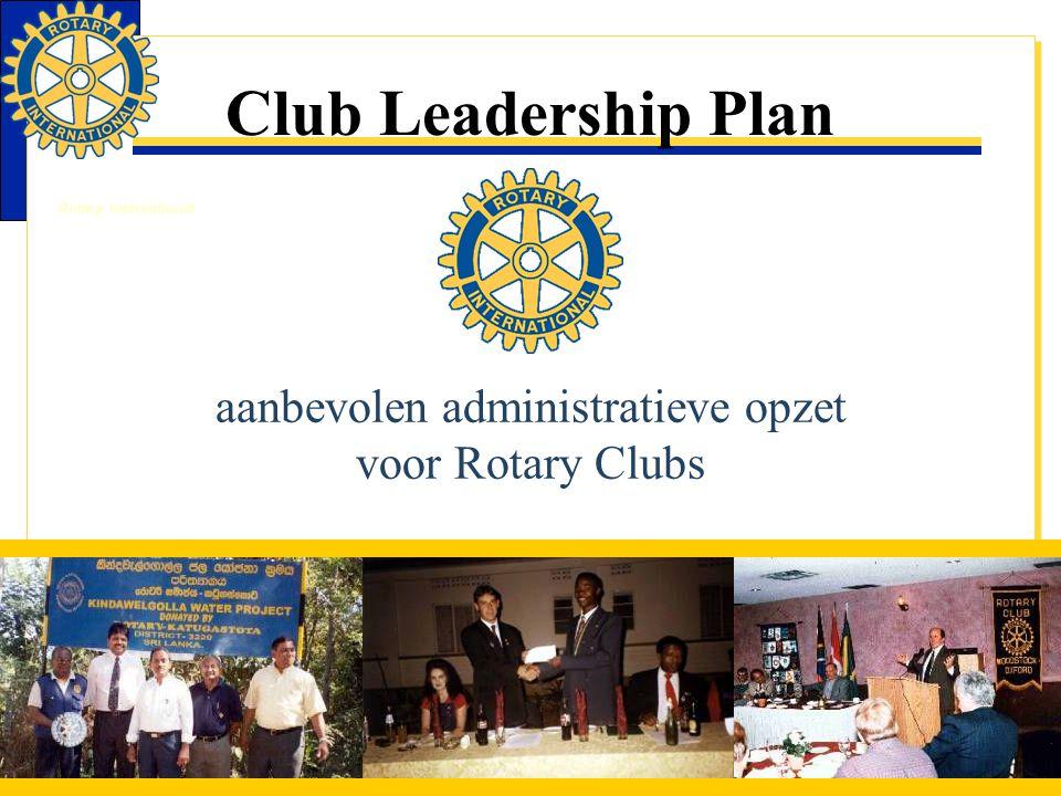 aanbevolen administratieve opzet voor Rotary Clubs