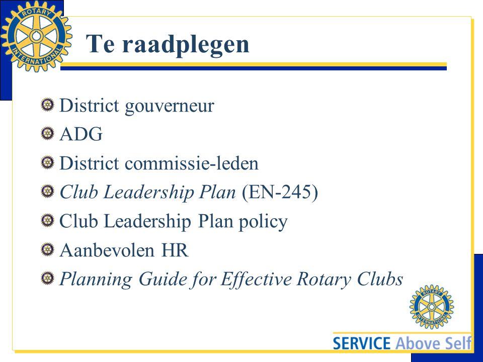 Te raadplegen District gouverneur ADG District commissie-leden