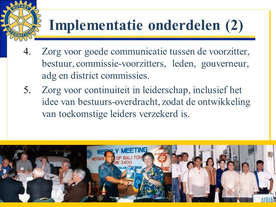 Implementatie onderdelen (2)
