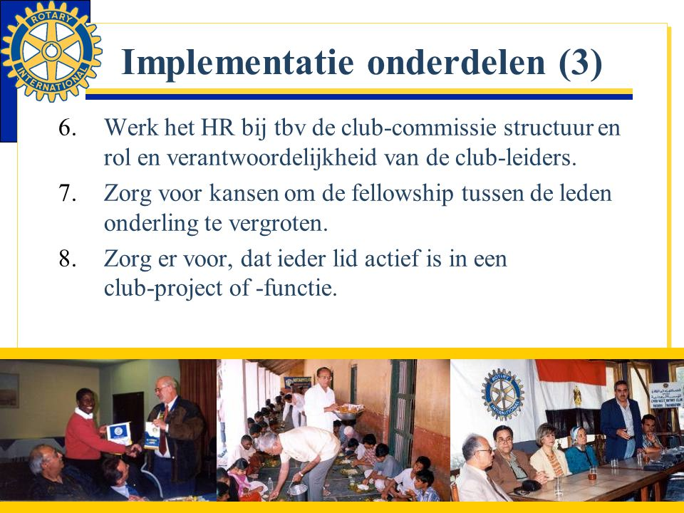 Implementatie onderdelen (3)