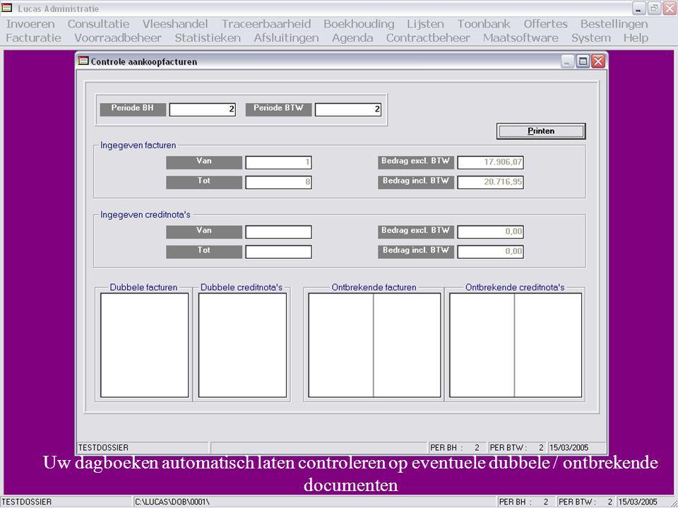 Uw dagboeken automatisch laten controleren op eventuele dubbele / ontbrekende documenten