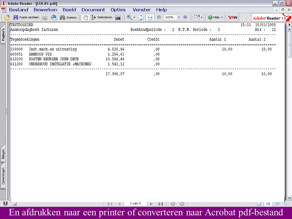 En afdrukken naar een printer of converteren naar Acrobat pdf-bestand