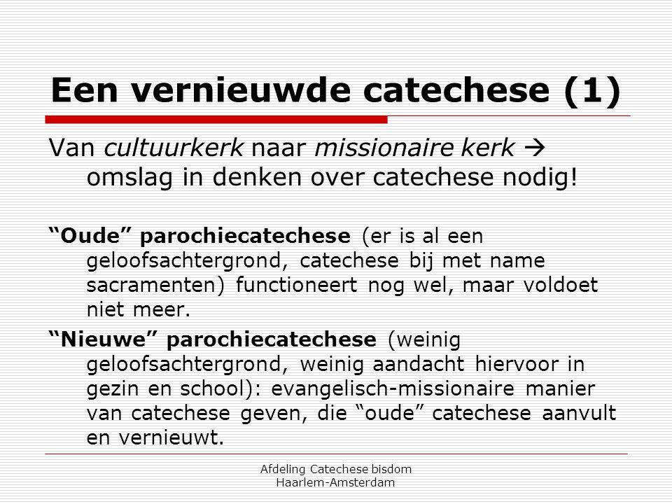 Een vernieuwde catechese (1)