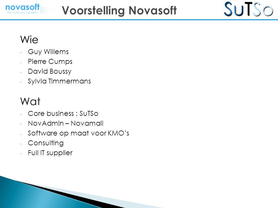 Voorstelling Novasoft