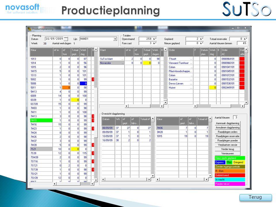 Productieplanning Terug