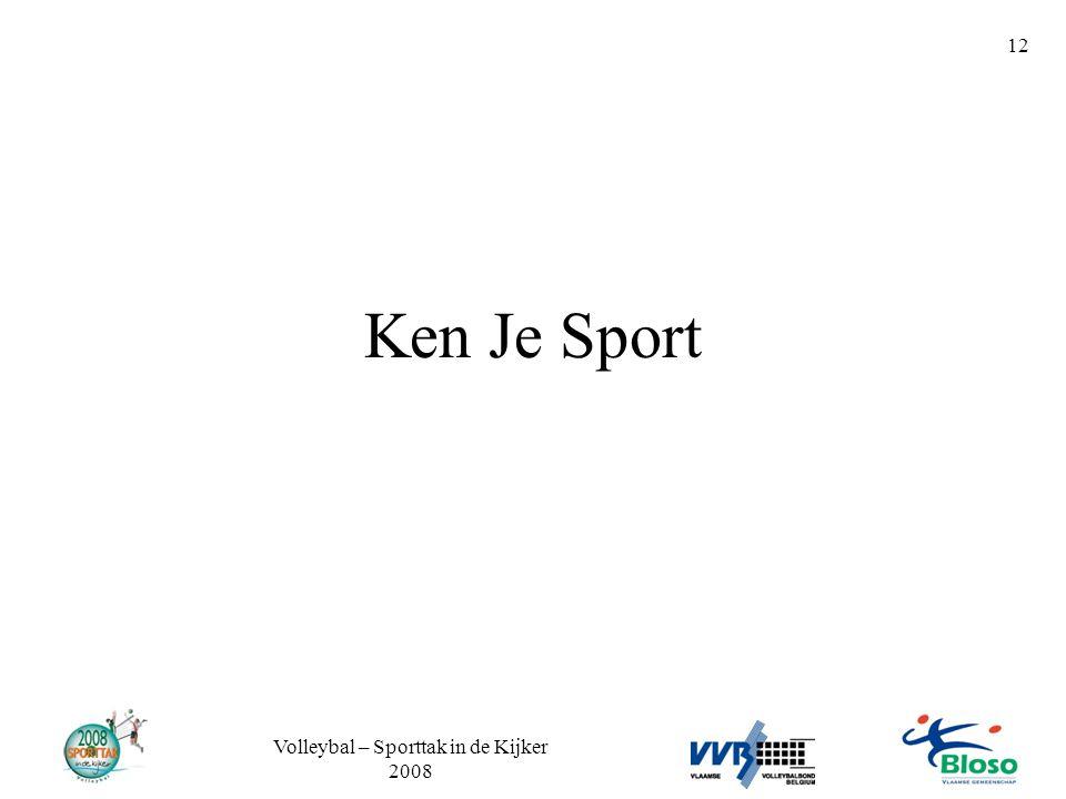 Volleybal – Sporttak in de Kijker 2008