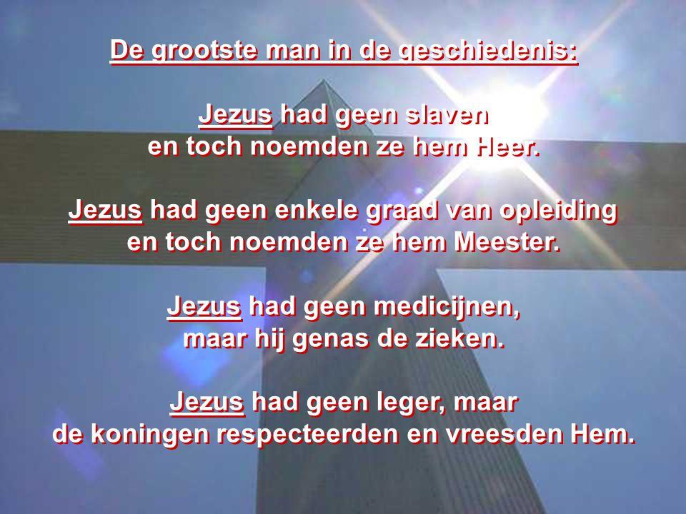 De grootste man in de geschiedenis: Jezus had geen slaven
