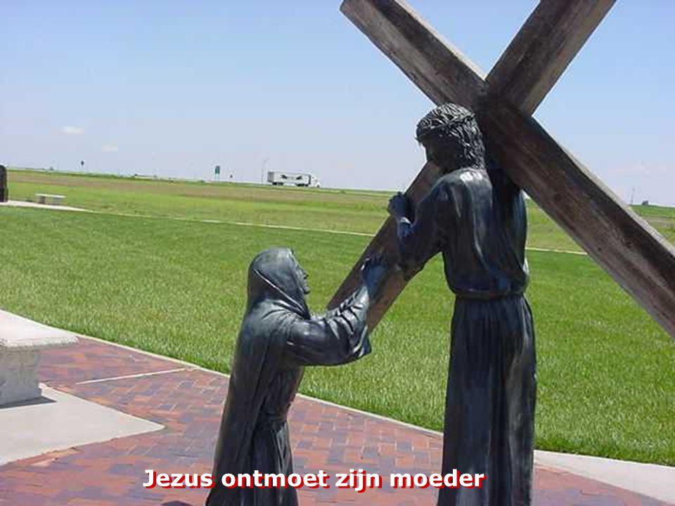 Jezus ontmoet zijn moeder