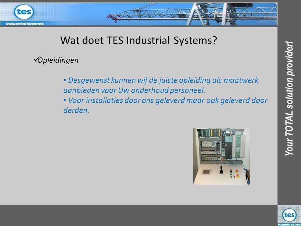 Wat doet TES Industrial Systems