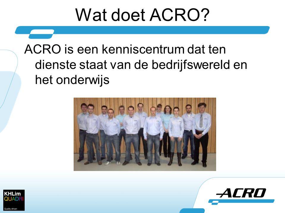 Wat doet ACRO.