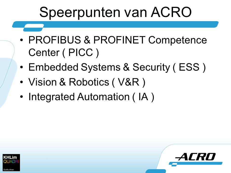 Speerpunten van ACRO PROFIBUS & PROFINET Competence Center ( PICC )