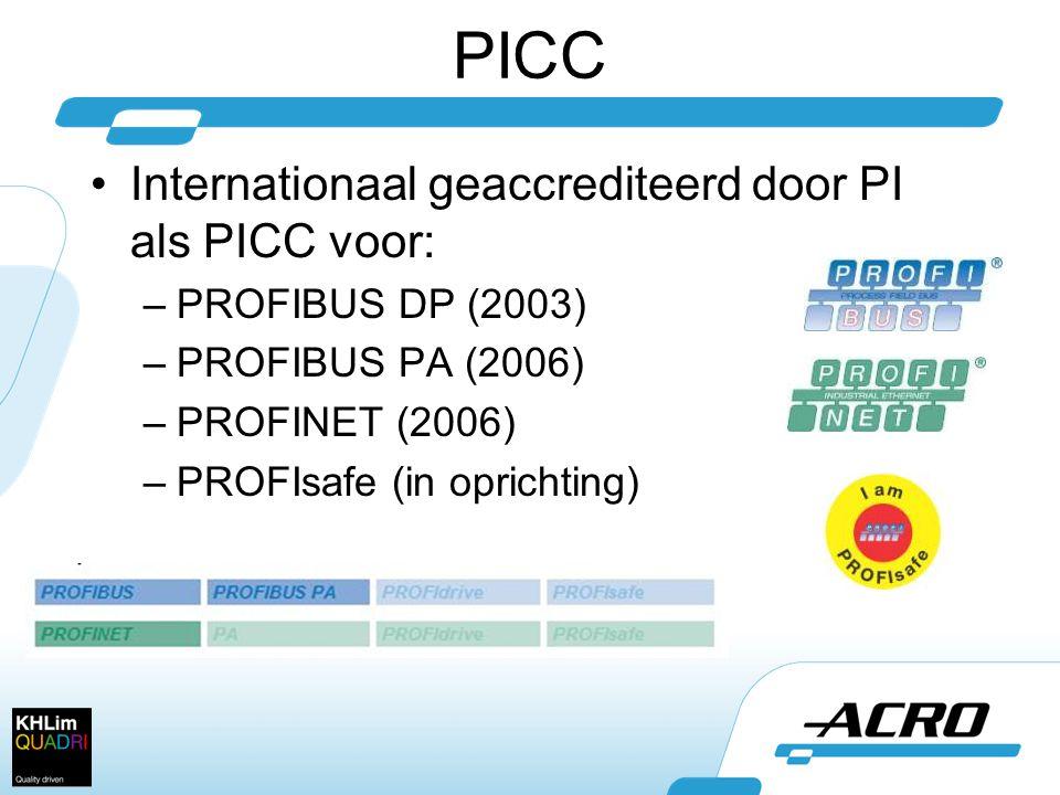 PICC Internationaal geaccrediteerd door PI als PICC voor:
