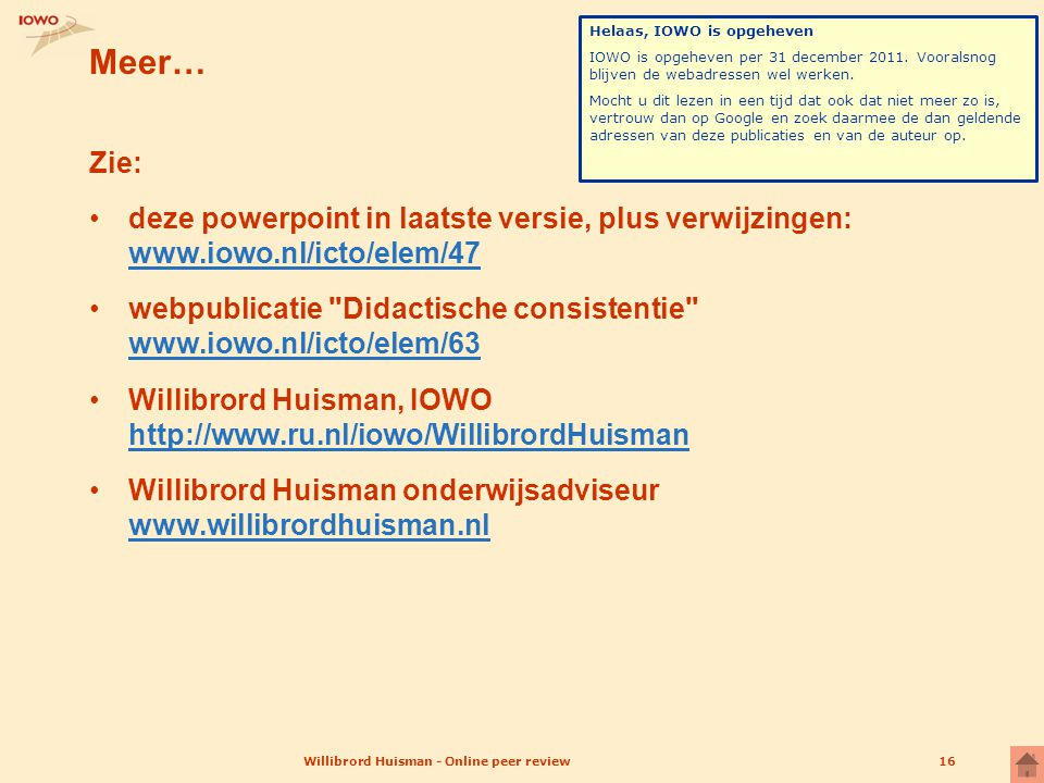 Willibrord Huisman - Online peer review