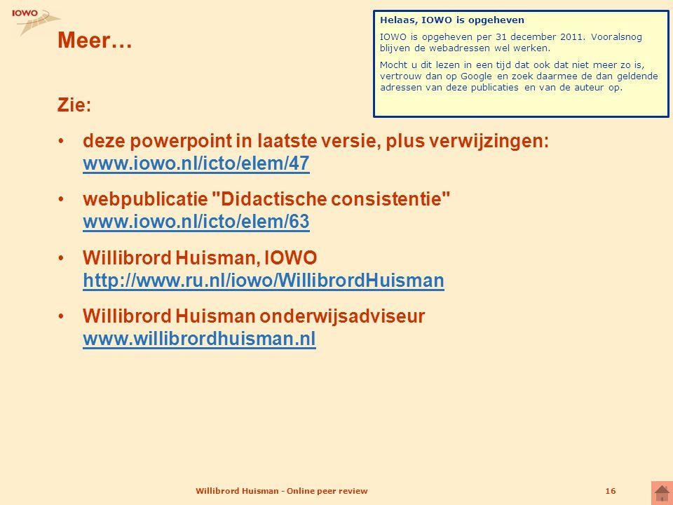 Willibrord Huisman - Online peer review