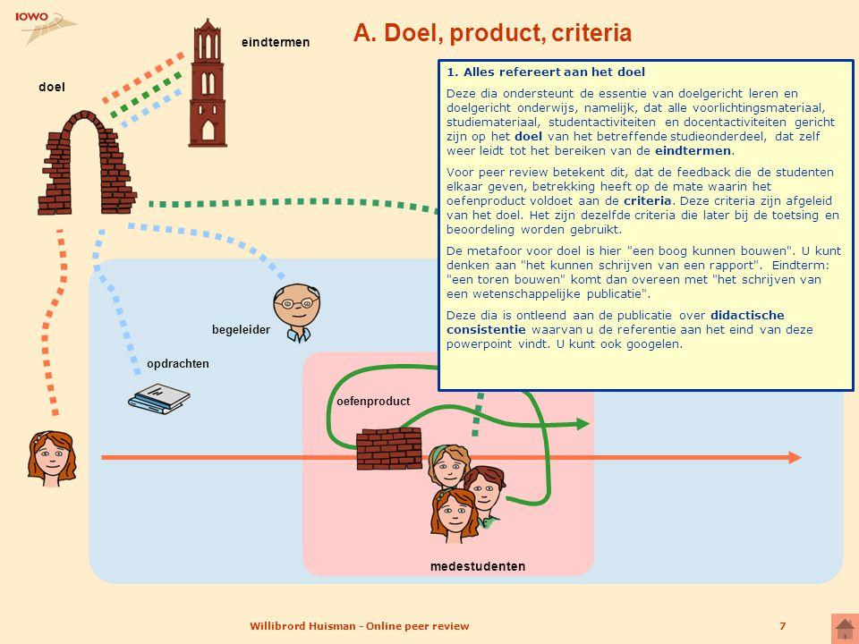 A. Doel, product, criteria