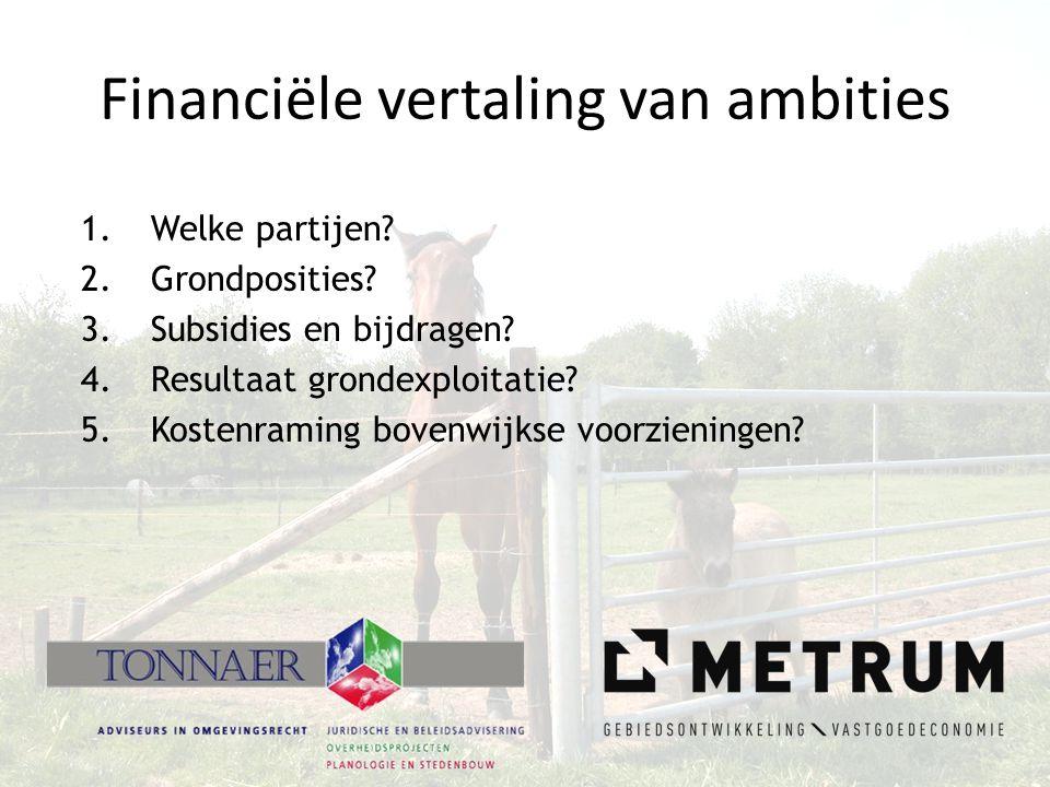 Financiële vertaling van ambities