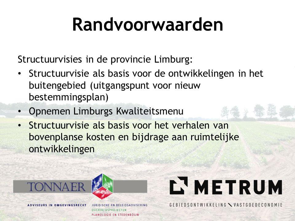 Randvoorwaarden Structuurvisies in de provincie Limburg: