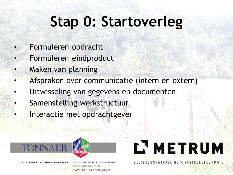 Stap 0: Startoverleg Formuleren opdracht Formuleren eindproduct
