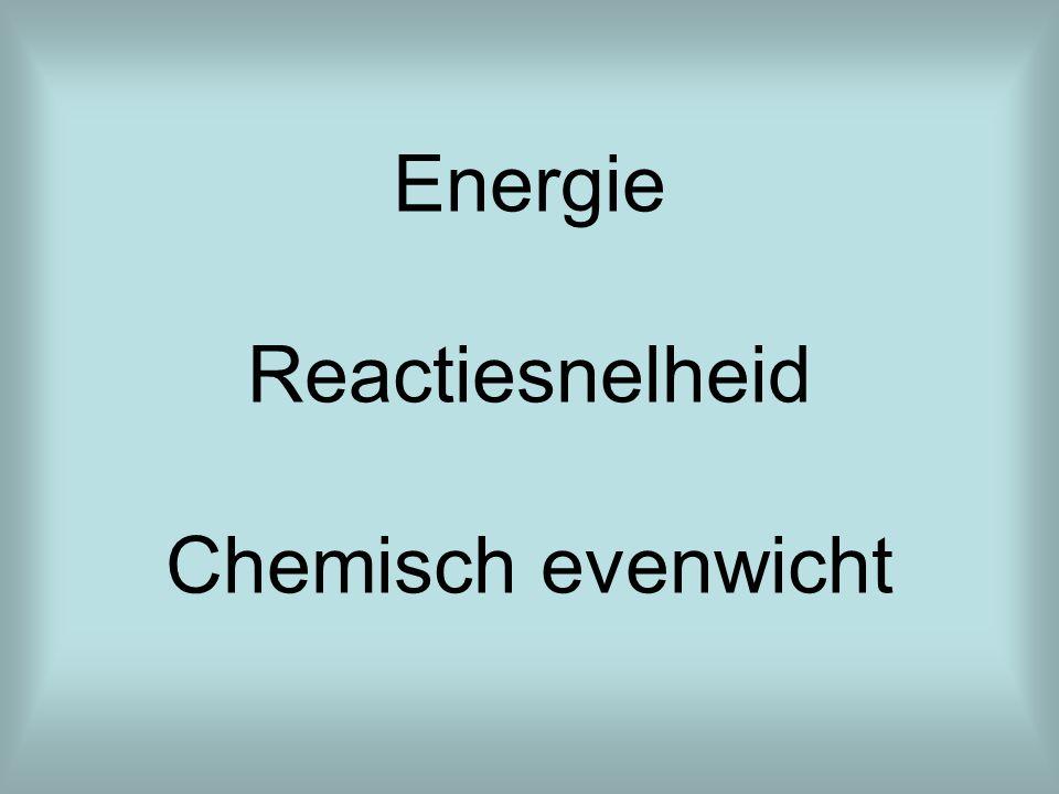 Energie Reactiesnelheid Chemisch evenwicht