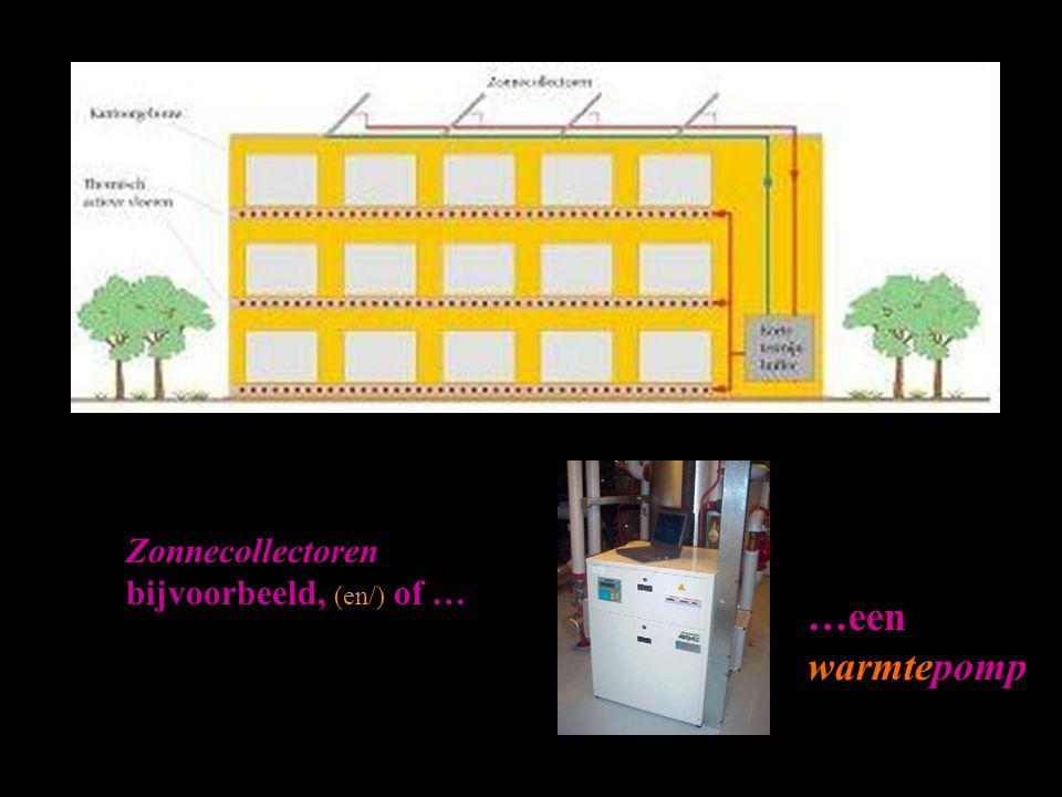 Zonnecollectoren bijvoorbeeld, (en/) of …