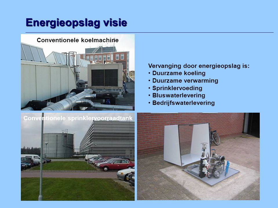 Energieopslag visie Conventionele koelmachine