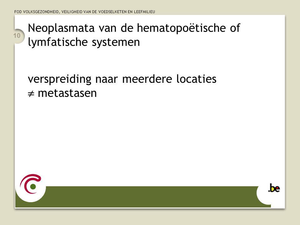 Neoplasmata van de hematopoëtische of lymfatische systemen