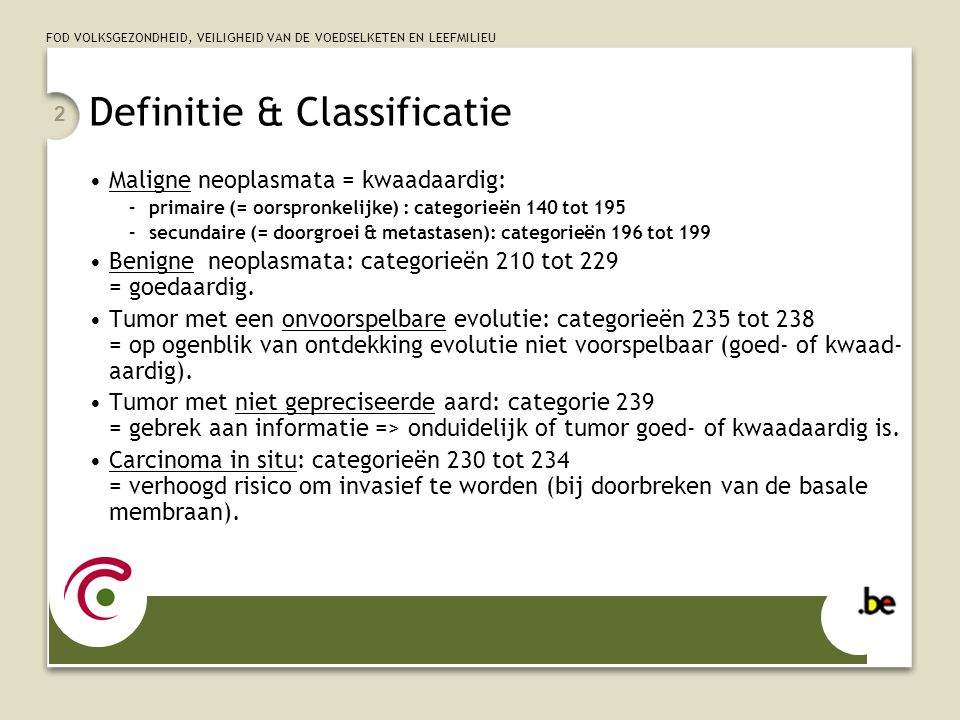 Definitie & Classificatie