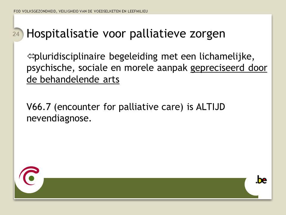 Hospitalisatie voor palliatieve zorgen