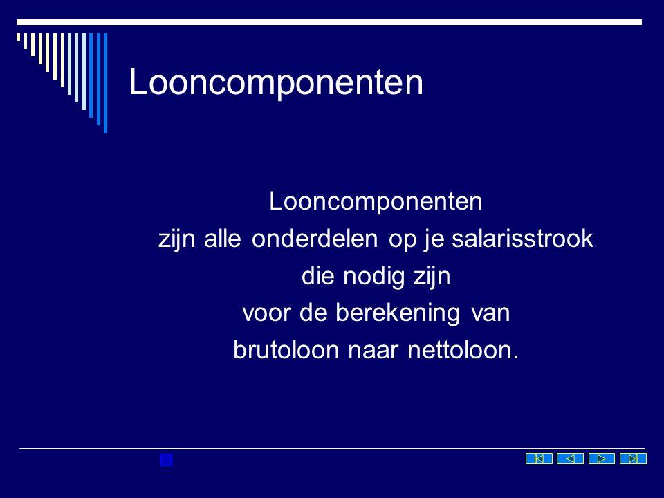 Looncomponenten Looncomponenten