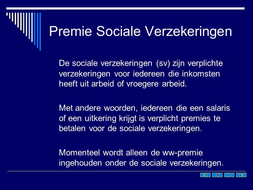Premie Sociale Verzekeringen