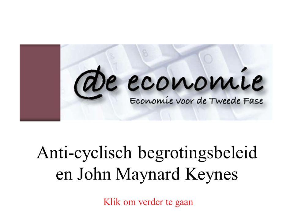 Anti-cyclisch begrotingsbeleid en John Maynard Keynes