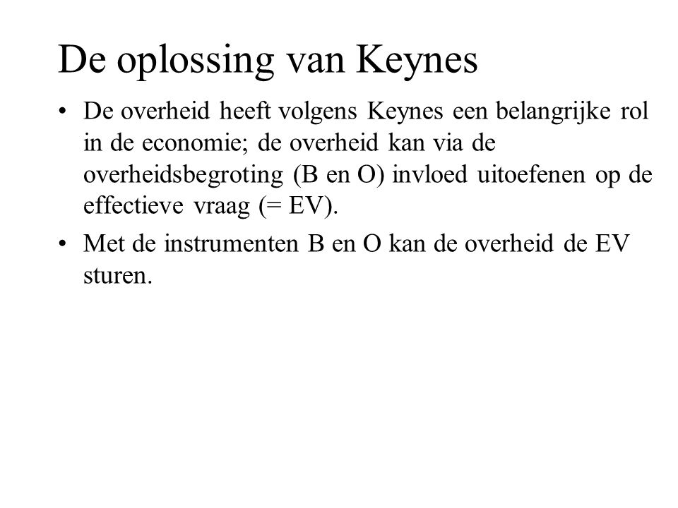 De oplossing van Keynes