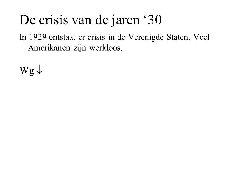 De crisis van de jaren '30 Wg 