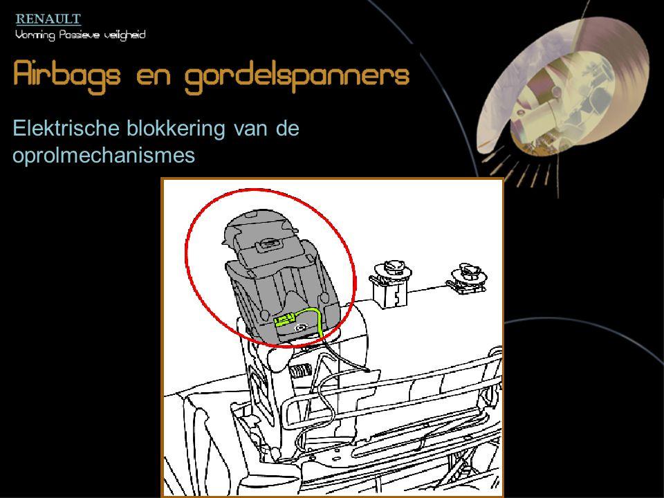 Elektrische blokkering van de oprolmechanismes