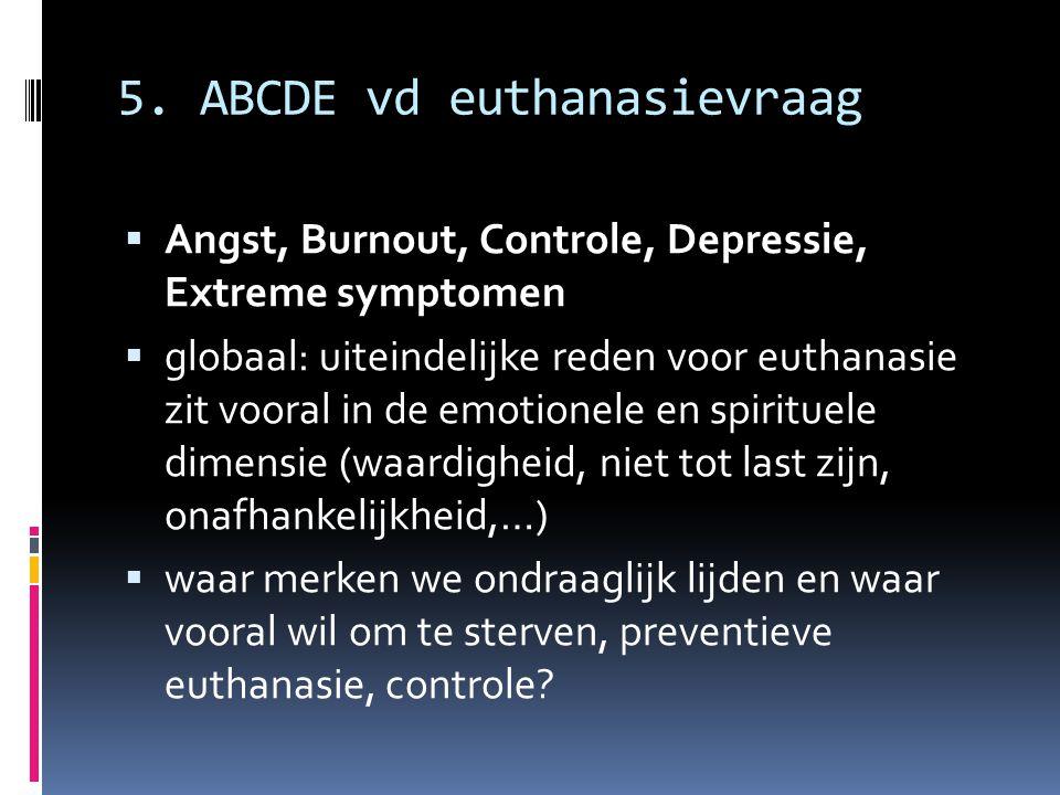 5. ABCDE vd euthanasievraag