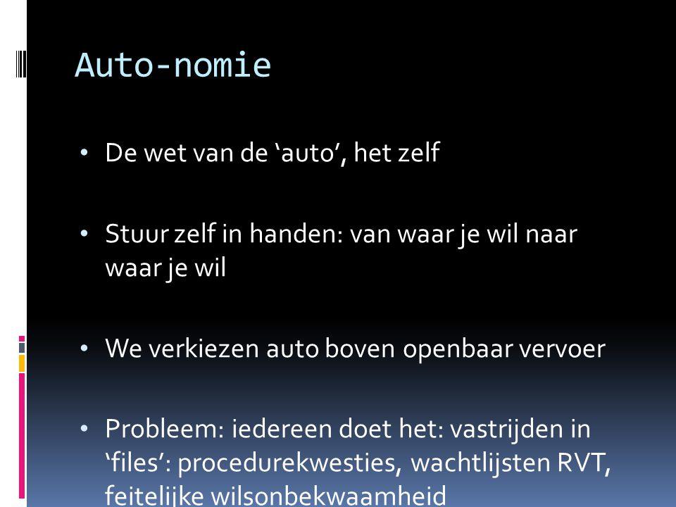 Auto-nomie De wet van de 'auto', het zelf