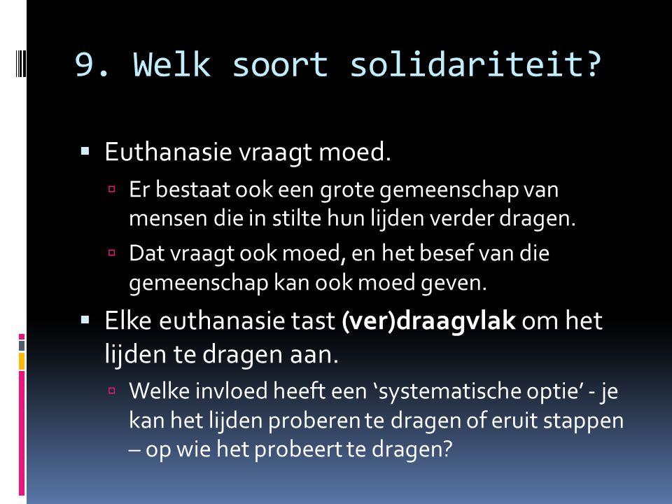 9. Welk soort solidariteit