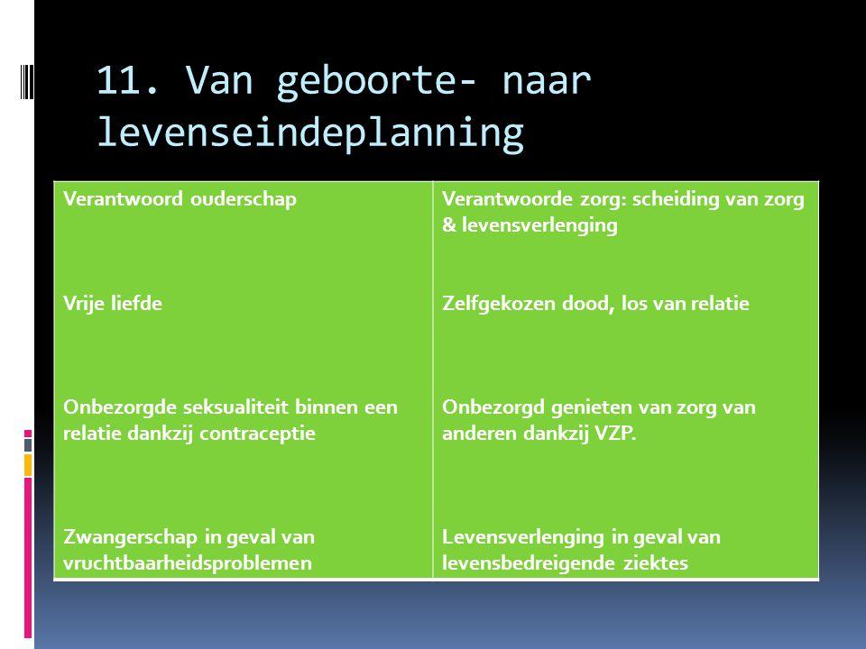 11. Van geboorte- naar levenseindeplanning
