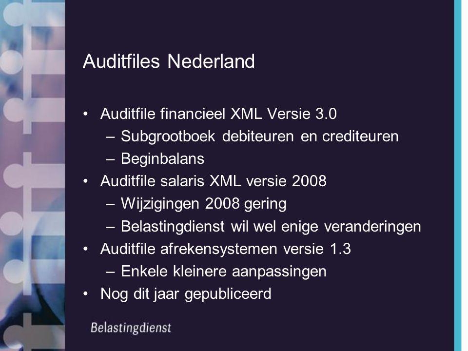 Auditfiles Nederland Auditfile financieel XML Versie 3.0