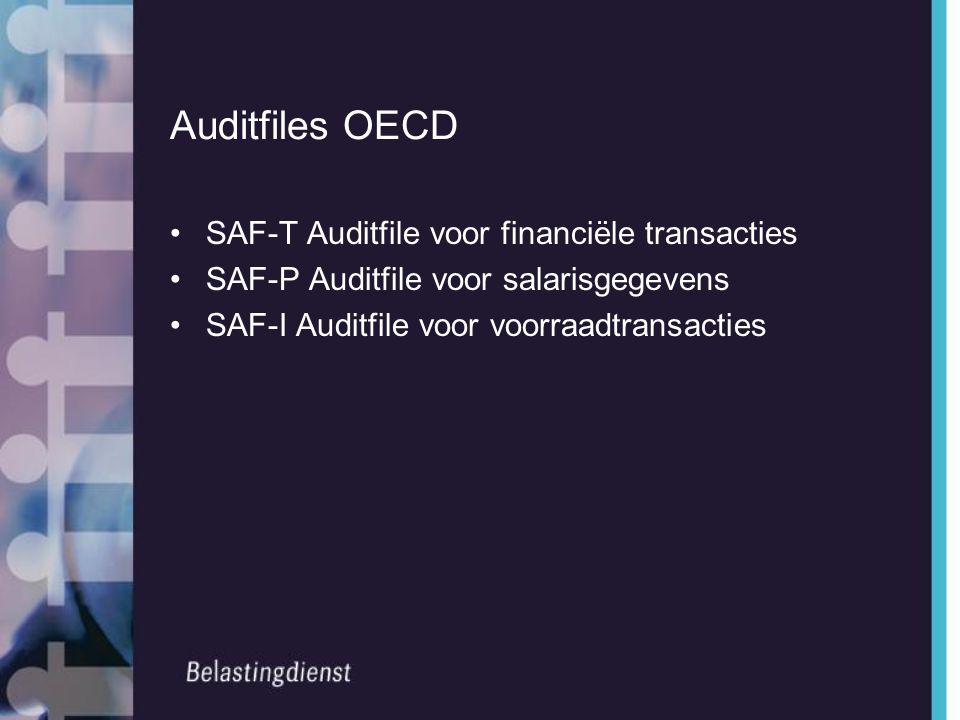 Auditfiles OECD SAF-T Auditfile voor financiële transacties