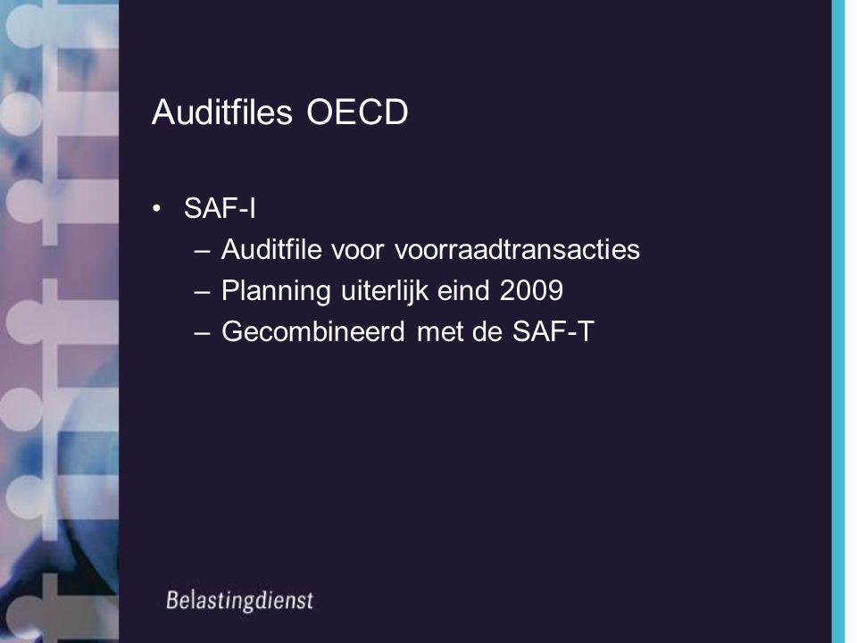Auditfiles OECD SAF-I Auditfile voor voorraadtransacties